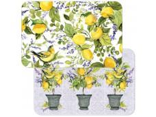 Cala Home Podkładki na stół dwustronne C174-00080 Watercolor Lemons