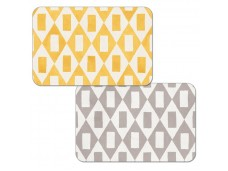 """Cala Home Podkładki na stół dwustronne C48620 """"grey-yellow"""""""