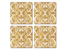 """Cala Home Podkładki korkowe małe, pod kubek C11550 """"gilded"""""""