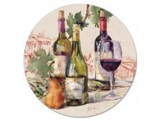 """Cala Home Obrotowa podstawka szklana typu lazy susan 163-000408 """"Wine Tableau"""" 33cm"""