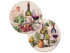"""Cala Home Podkładki na stół dwustronne okrągłe C173-00025 """"wine tableau"""""""
