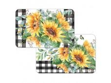 """Cala Home Podkładki na stół dwustronne C174-00055 """"sunflower fields"""""""