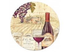 """Cala Home Obrotowa podstawka szklana typu lazy susan 23973 """"Wine Tradition"""" 33cm"""