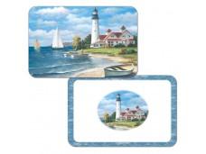 """Cala Home Podkładki na stół dwustronne C40204 """"lighthouse mural"""""""