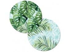 """Cala Home Podkładki na stół dwustronne okrągłe C48034 """"tropical foliage"""""""