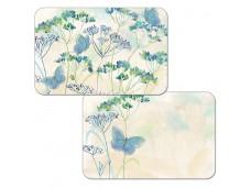 """Cala Home Podkładki na stół dwustronne C49687 """"indigo wild flowers"""""""