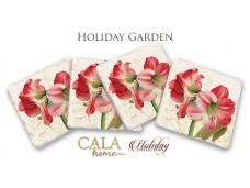 """Cala Home Podkładki pod kubek z kamionki komplet 4 szt. 88560 """"garden"""""""