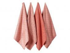 Ladelle Carver Blush komplet 4 ręczników kuchennych z mikrofibry L33204