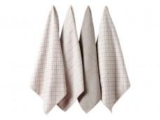 Ladelle Carver Taupe komplet 4 ręczników kuchennych z mikrofibry L33201