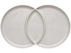 Ladelle Loop Serving Platter talerz szary 2-częściowy  L61391