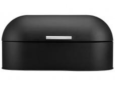 Ladelle Classic Soft Matt Black stalowy pojemnik na chleb L80012