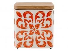 Ladelle Coventry Burnt Orange wzór 2 pojemnik do przechowywania artykułów spożywczych L61170