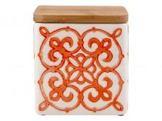 Ladelle Coventry Burnt Orange wzór 3 pojemnik do przechowywania artykułów spożywczych L61170
