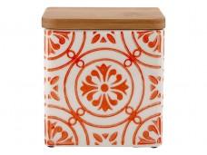 Ladelle Coventry Burnt Orange wzór 1 pojemnik do przechowywania artykułów spożywczych L61170