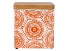 Ladelle Fieste Hex Orange wzór 1 pojemnik do przechowywania żywności L61506