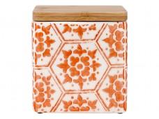 Ladelle Fieste Hex Orange wzór 2 pojemnik do przechowywania żywności L61506