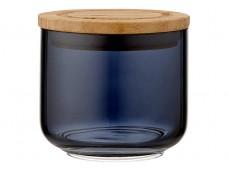 Ladelle Stak Glass Midnight pojemnik do przechowywania artykułów spożywczych 9 cm L61347