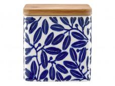 Ladelle Leaves Blue wzór 1 pojemnik do przechowywania artykułów spożywczych L61418