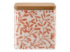 Ladelle Leaves Burnt Orange wzór 2 pojemnik do przechowywania artykułów spożywczych L61420