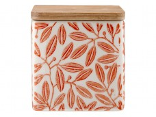 Ladelle Leaves Burnt Orange wzór 1 pojemnik do przechowywania artykułów spożywczych L61420