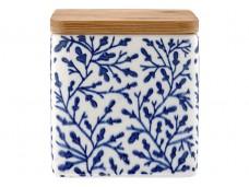 Ladelle Leaves Blue wzór 3 pojemnik do przechowywania artykułów spożywczych L61418