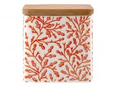 Ladelle Leaves Burnt Orange wzór 3 pojemnik do przechowywania artykułów spożywczych L61420