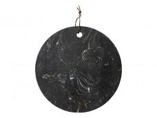 Ladelle Metta podstawka na stół czarna - kamień - okrągła 30 cm L61144