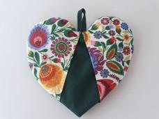 Łowicz łapka kuchenna serce zielone