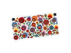 Łowicz dekor ceramiczny kwiaty