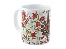 Podhale kubek porcelanowy parzenica w kwiatach