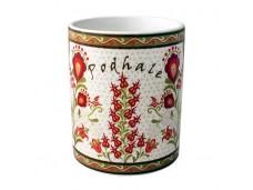 Podhale kubek porcelanowy kwiaty w ramce