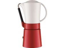 Kawiarka z porcelanowym dzbankiem Aerolatte czerwona
