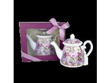 """Ashdene Dzbanek porcelanowy do herbaty mały 16589 """"ciemna róża"""""""