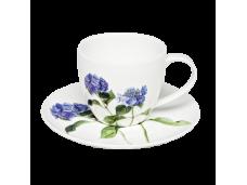 """Ashdene Filiżanki porcelanowe do herbaty 16007 """"niebieska hortensja"""""""