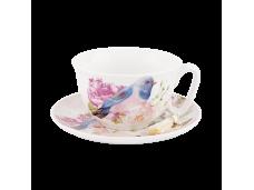 """Ashdene Filiżanki porcelanowe do herbaty 16247 """"niebieski ptak"""""""
