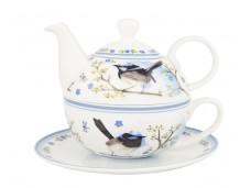 """Ashdene zestaw do herbaty tea for one 16346 """"ptaki strzyżyk"""""""