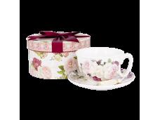 """Ashdene Filiżanki porcelanowe do herbaty 16378 """"róże vintage"""""""