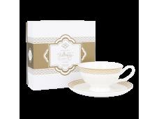 """Ashdene Filiżanki porcelanowe do herbaty 16447 """"kość słoniowa"""""""