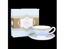 "Ashdene Filiżanki porcelanowe do herbaty 16451 ""błękit nieba"""