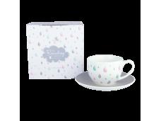"""Ashdene Filiżanki porcelanowe do herbaty 16531 """"letni deszczyk"""""""