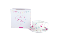 "Ashdene Filiżanki porcelanowe do herbaty 16534 ""cukierki Lane"""