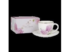 """Ashdene Filiżanki porcelanowe do herbaty 16963 """"różowe piwonie"""""""