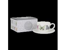 "Ashdene Filiżanki porcelanowe do herbaty 16985 ""motyle"""