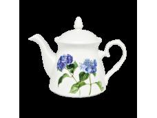"""Ashdene Dzbanek porcelanowy z zaparzaczem do herbaty 16008 """"niebieska hortensja"""""""