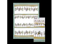 """Ashdene Ręcznik kuchenny 40061 """"ranczo - Hilltop Trees"""""""