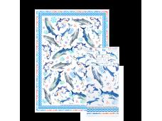 """Ashdene Ręcznik kuchenny 40086 """"rekiny"""""""