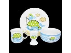 Ashdene Zestaw stołowy z porcelany dla dzieci 89944 - 4 elementy
