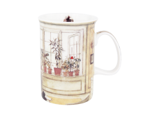 """Ashdene Kubek porcelanowy 15414 """"okno w kwiatach"""""""