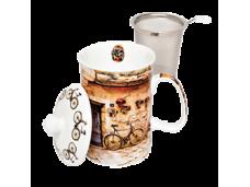 """Ashdene Kubek porcelanowy z zaparzaczem do herbaty 16037 """"toskania"""""""