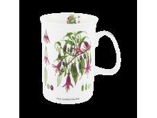 """Ashdene Kubek porcelanowy 16079 """"kwiaty NZ - fuksja"""""""